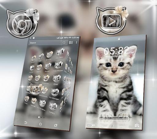 Cute Cat Launcher Theme screenshot 3