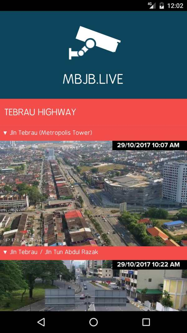 MBJB.LIVE - Live Traffic Cameras in Johor Bahru. screenshot 1