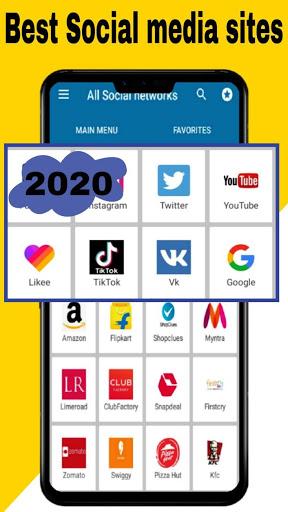 All social media apps 2020 3 تصوير الشاشة