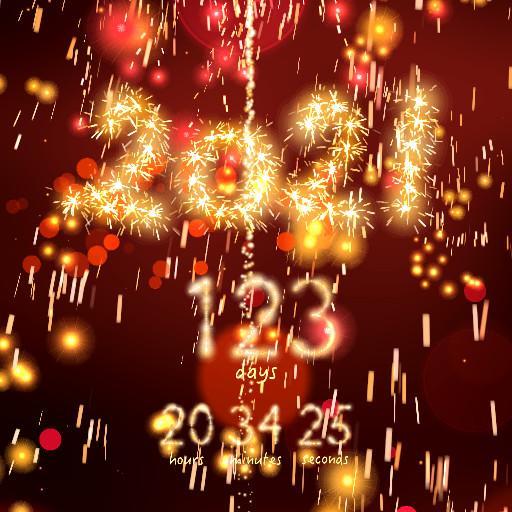 New Year 2021 countdown أيقونة