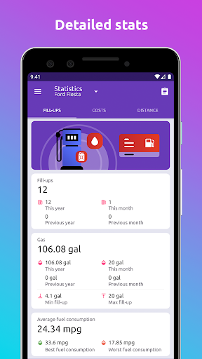 Fuelio: gas log, costs, car management, GPS routes screenshot 6