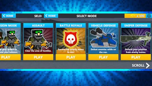 Cube Wars Battle Survival 10 تصوير الشاشة