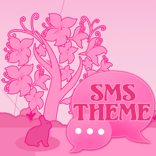 Animal Theme Pink GO SMS Pro icon