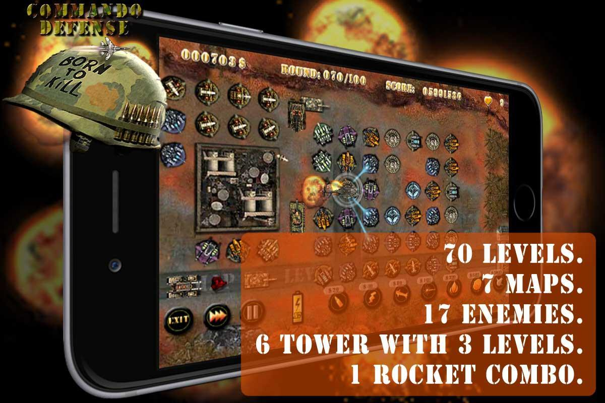 Commando Tower Defense screenshot 2