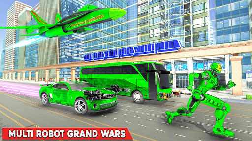 Army Bus Robot Transform Wars – Air jet robot game screenshot 4