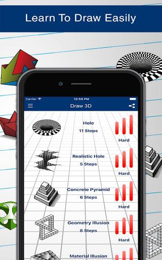 How to Draw 3D 12 تصوير الشاشة