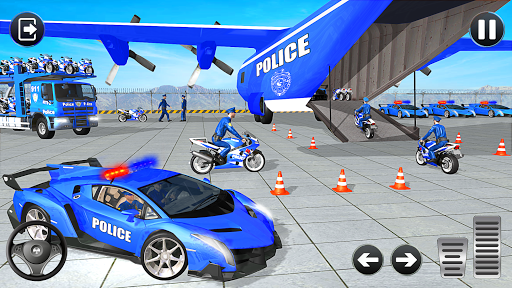Police Bike Transport Truck screenshot 3