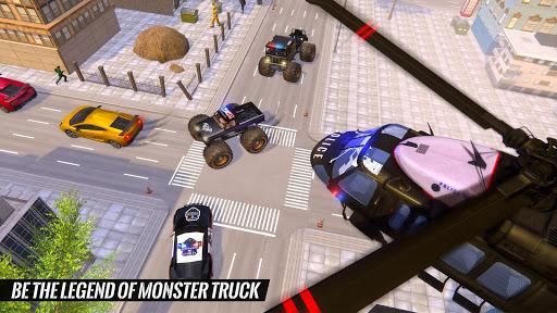 US Police Monster Truck Gangster Car Chase Games स्क्रीनशॉट 3