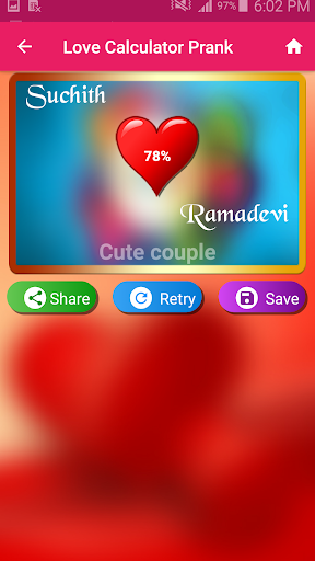Love Test Calculator Prank 3 تصوير الشاشة