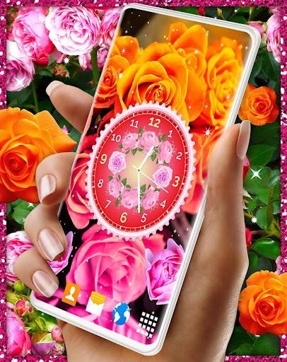 Rose Clock Live Wallpaper 🌹 4K Wallpapers Themes screenshot 2