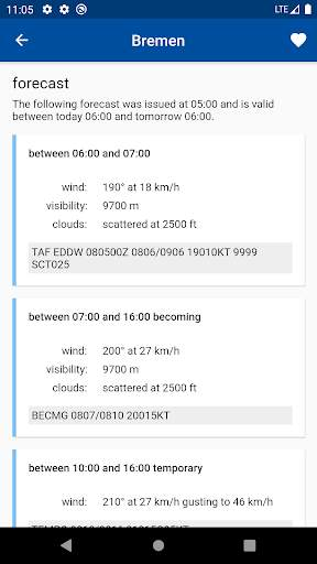 Aviation weather (METAR / TAF) скриншот 3