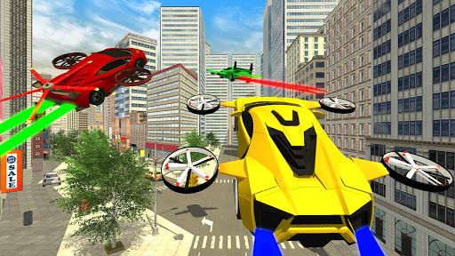 Real Light Flying Car Racing Simulator Games 2020 screenshot 1