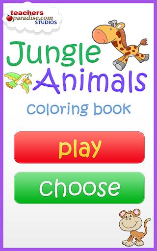 Jungle Animals Coloring Book screenshot 9