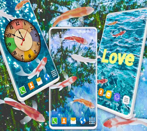 HD Koi Live Pond 3D 🐟 Fish 4K Live Wallpaper Free 2 تصوير الشاشة