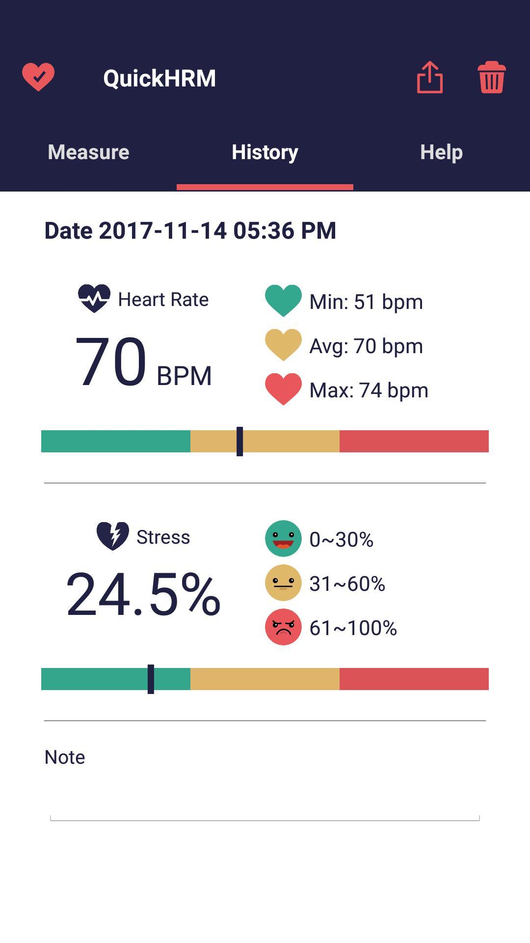 Quick Heart Rate Monitor 3 تصوير الشاشة