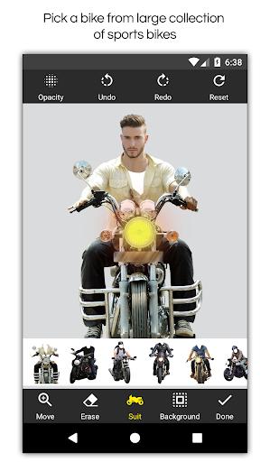 Man Bike Rider Photo Editor screenshot 13