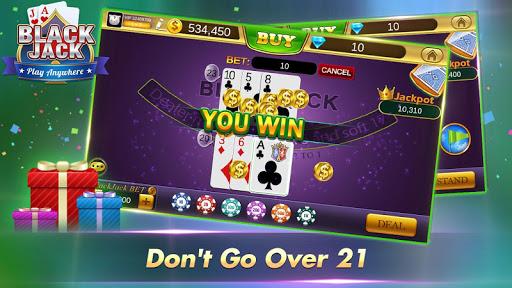 Blackjack 21 Free - Casino Black Jack Trainer Game 4 تصوير الشاشة