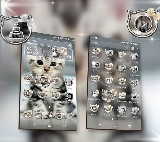 Cute Cat Launcher Theme screenshot 2
