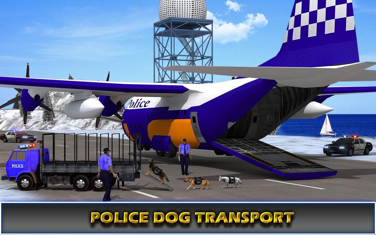 US Police Airplane Cop Dog Transporter Kids Games screenshot 9