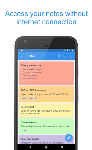Private Notepad - safe notes & lists screenshot 1