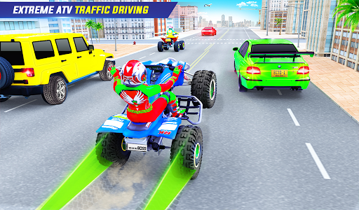 Light ATV Quad Bike Racing, Traffic Racing Games screenshot 11