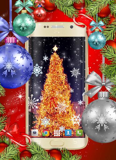 Christmas Wallpapers 🎅 Xmas Tree Live Wallpaper 3 تصوير الشاشة