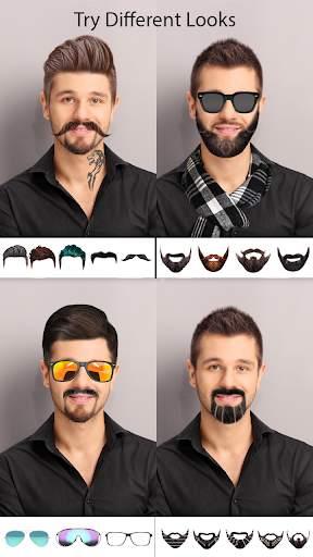 Man Photo Editor : Man Hair style ,mustache ,suit screenshot 1