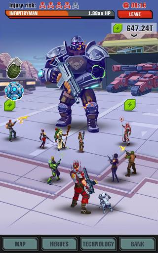 Сlicker idle game: Evolution Heroes स्क्रीनशॉट 7