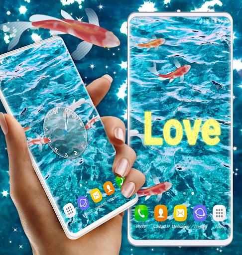HD Koi Live Pond 3D 🐟 Fish 4K Live Wallpaper Free screenshot 3