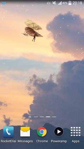 Flying World Live Wallpaper 7 تصوير الشاشة