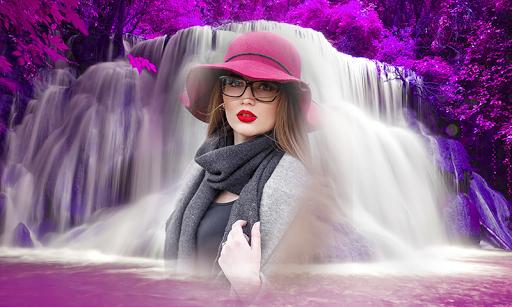 Photo Editor & Photo Frames: Water fall Background 7 تصوير الشاشة
