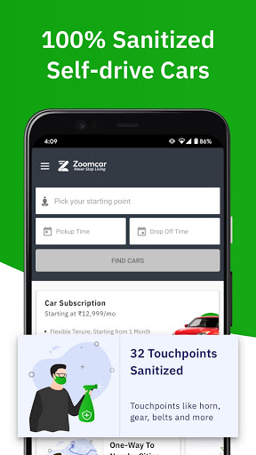 Zoomcar - Sanitized Self-drive car rental service 1 تصوير الشاشة