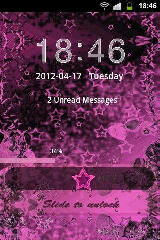 Theme Pink Dark GO Locker screenshot 2