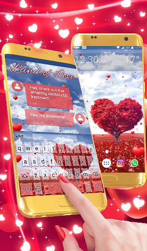 Land of Love Animated Keyboard + Live Wallpaper screenshot 1
