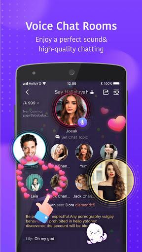 Hello Yo - Group Chat Rooms screenshot 1