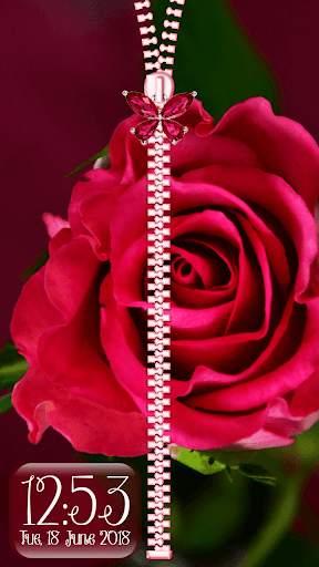 Rose Theme Zipper Lock Screen screenshot 8