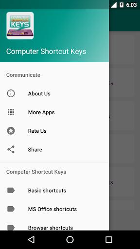 Computer Shortcut Keys 3 تصوير الشاشة