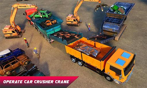Car Crusher Crane Driver Dumper Truck Driving Game screenshot 2