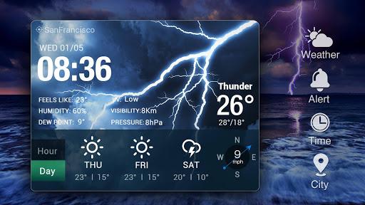 Z Style Weather Widget 12 تصوير الشاشة