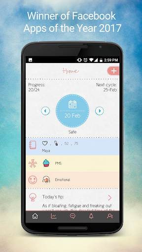Maya - Period, Fertility, Ovulation & Pregnancy screenshot 1