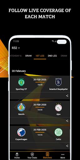 UEFA Europa League football: live scores & news screenshot 3