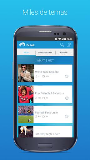 Chatea, liga, haz vídeos con todos: Paltalk screenshot 3