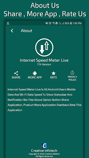 Internet Speed Meter Live (ads free) screenshot 8