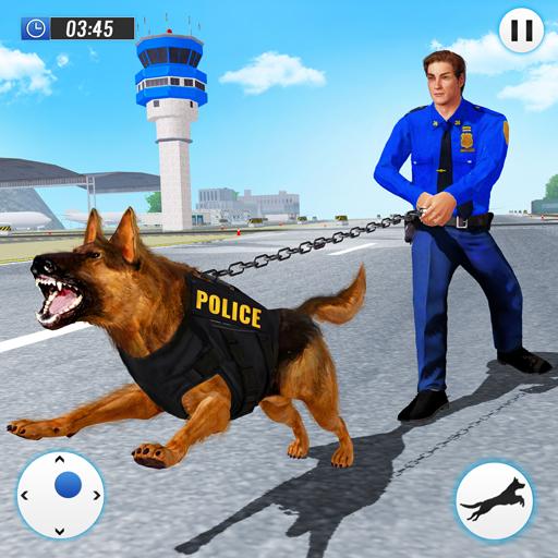 US Police Dog 2019: Airport Crime Shooting Game أيقونة