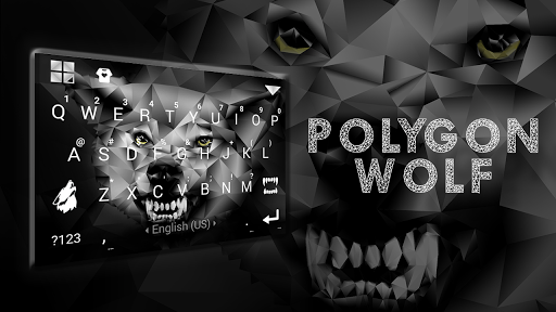 Polygon Wolf Keyboard Theme screenshot 1