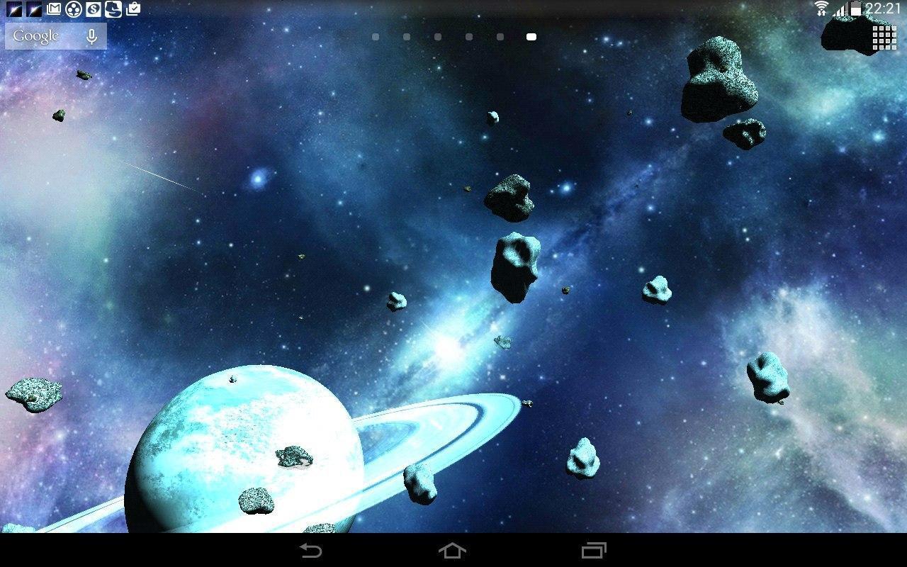 Asteroids 3D live wallpaper 11 تصوير الشاشة