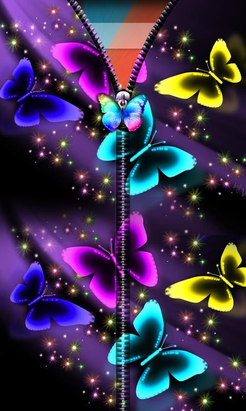 3D Butterfly Zipper UnLock 2 تصوير الشاشة