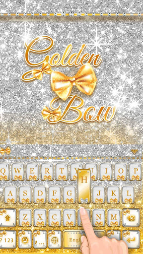 Golden Bow Keyboard Theme screenshot 3