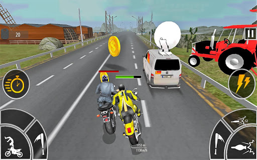 Moto Bike Attack Race 3d games screenshot 4