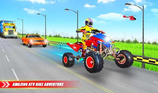 Light ATV Quad Bike Racing, Traffic Racing Games screenshot 10